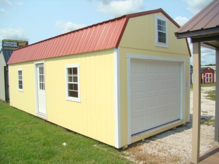12x28 Painted High Barn Garage