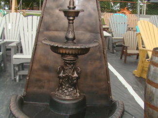 wall fountain with bronze accent