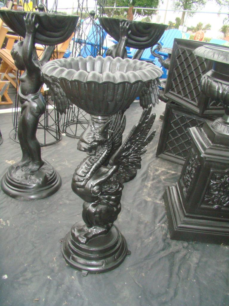 cast aluminum griffin urn