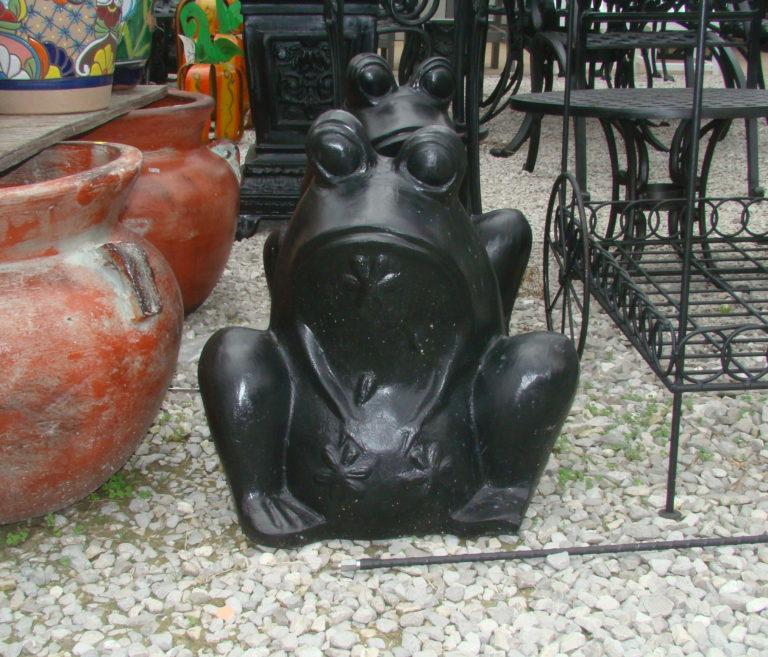 Cast Aluminum Frog Planter