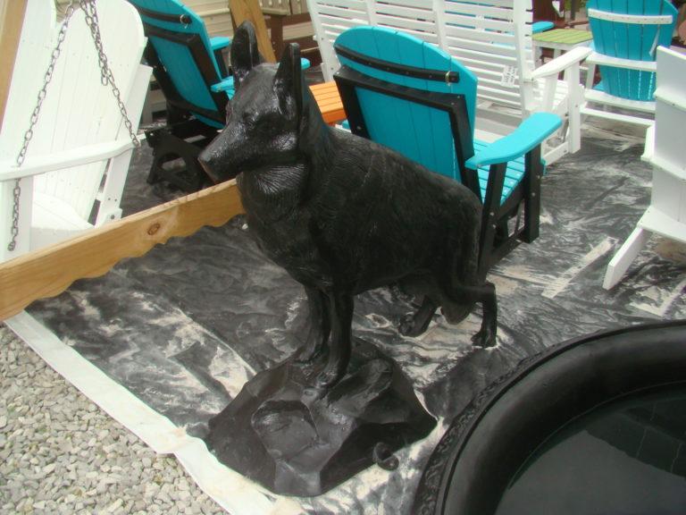 Cast Aluminum German Shepherd