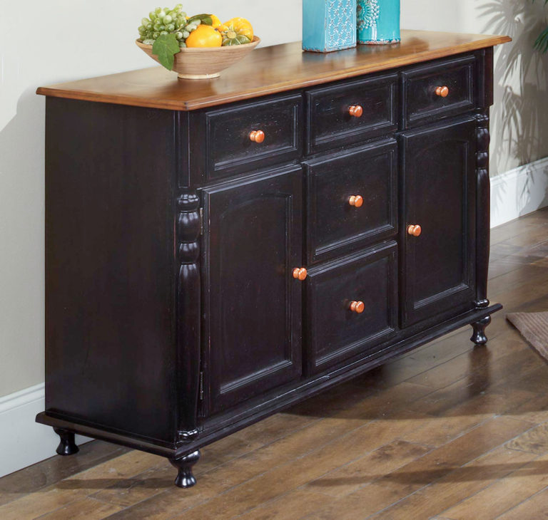 black dining room cabinet