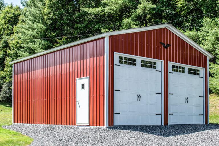 red portable carport