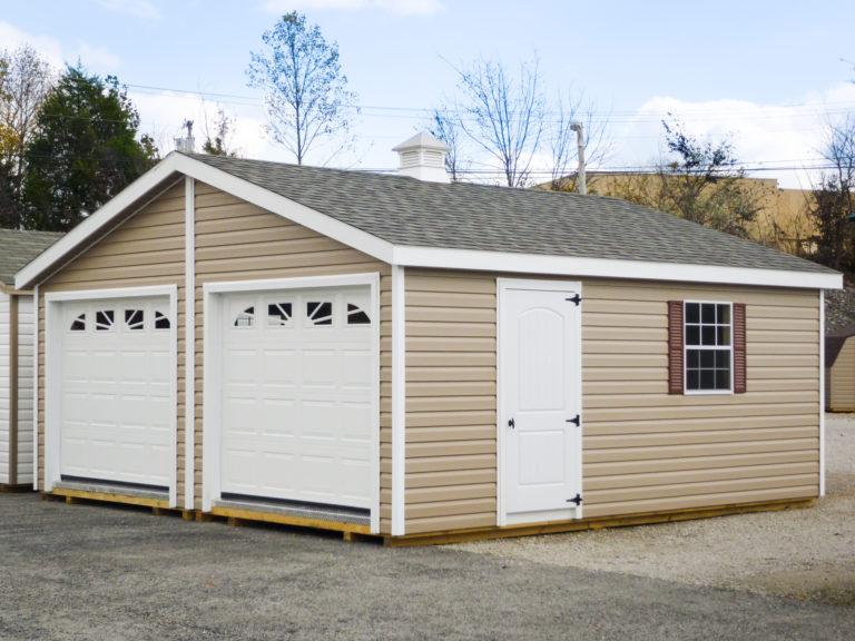 double wide pre built garages