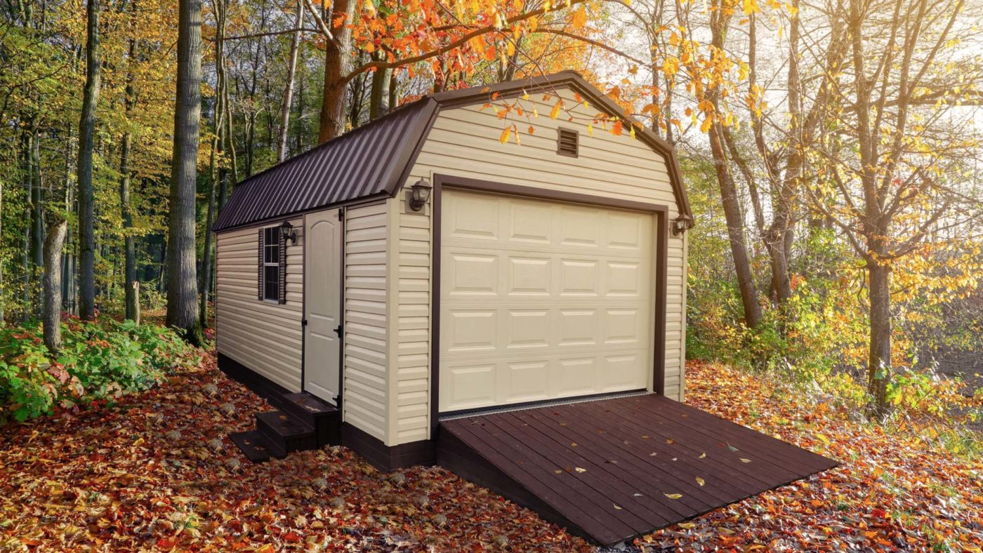 portable buildings for vehicles