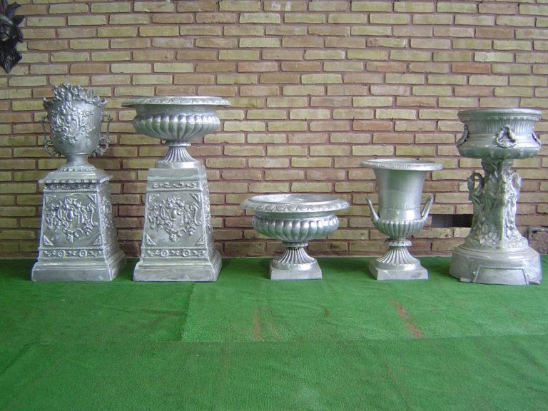 cast aluminum urn planters