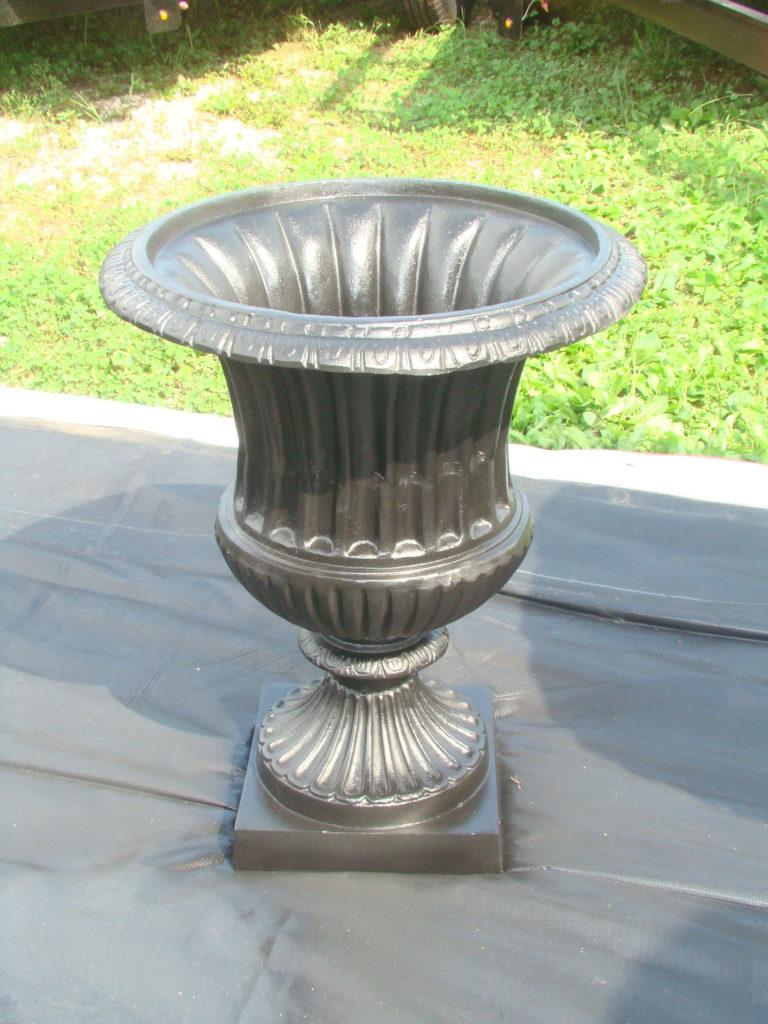 large fluted urn