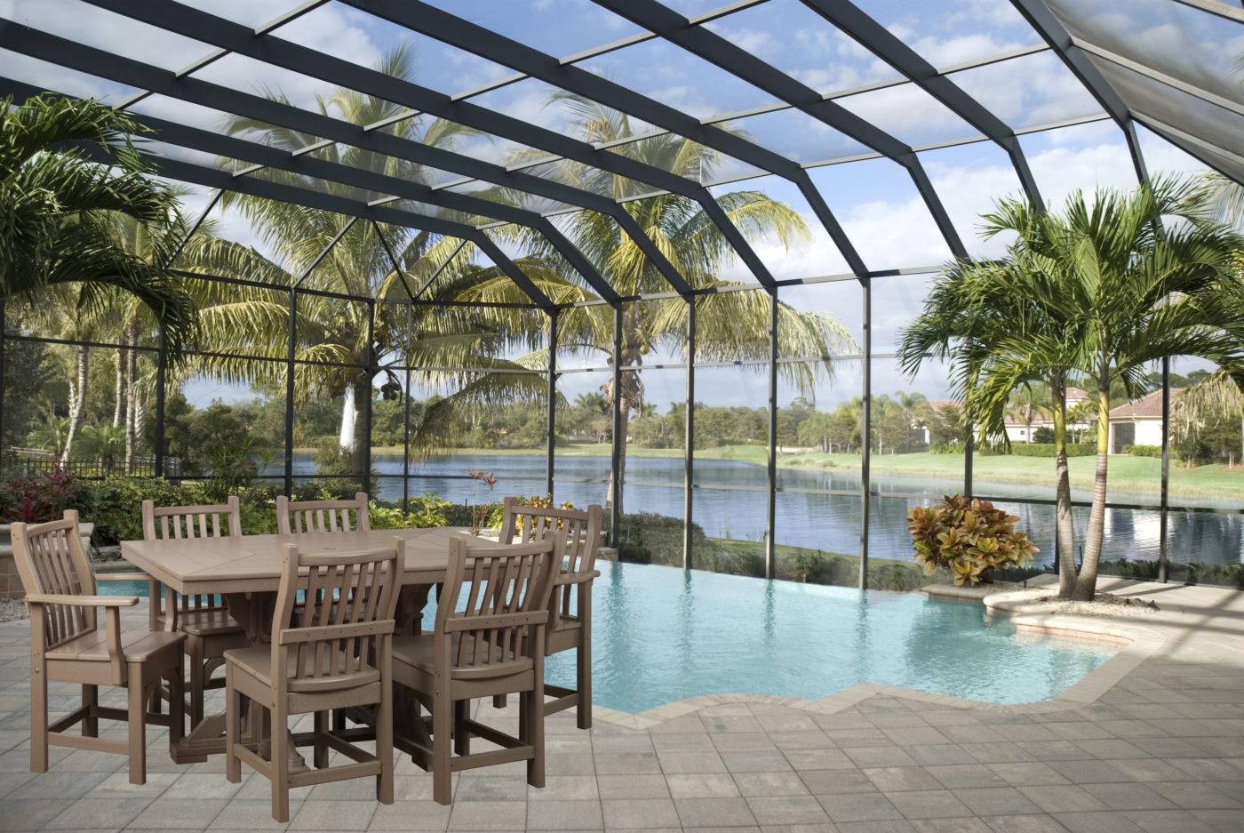 poolside outdoor patio furniture